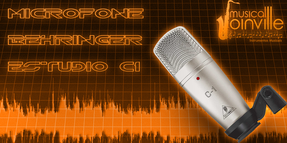 banner microfone musical
